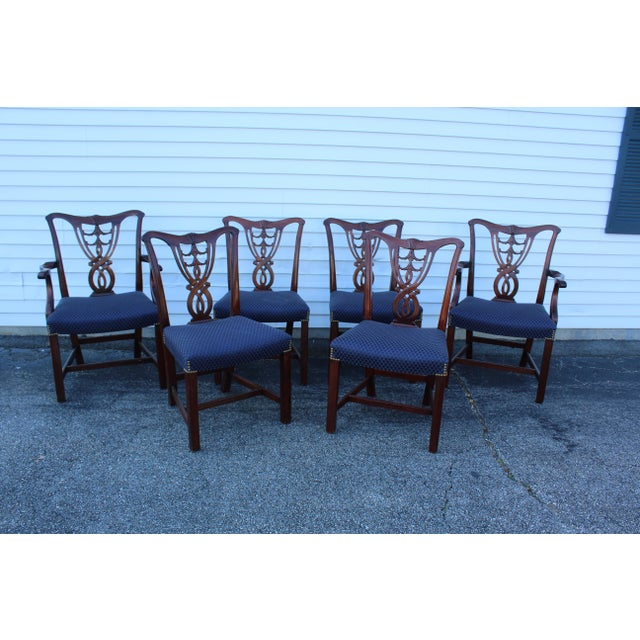 Vintage Mid Century Blue Dining Chairs- Set of 6 For Sale - Image 11 of 11
