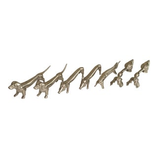 Animal Design French Silver Plate Knife Rests - Set of 7 For Sale