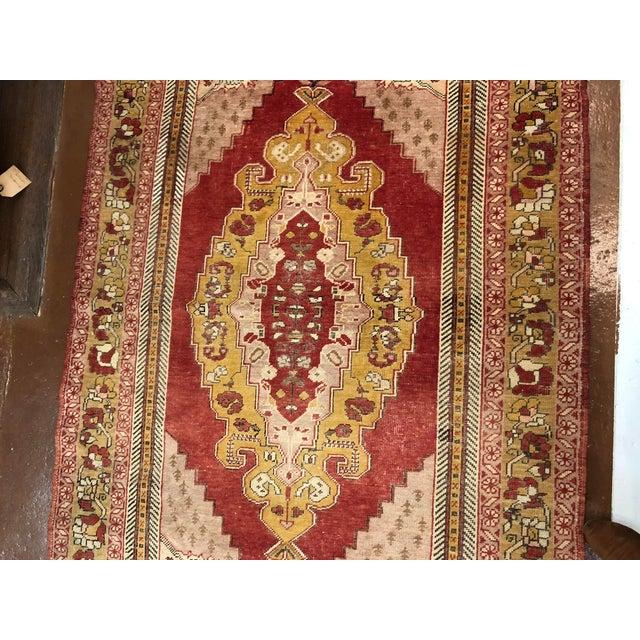 Islamic Turkish Wool Oushak Rug For Sale - Image 3 of 5