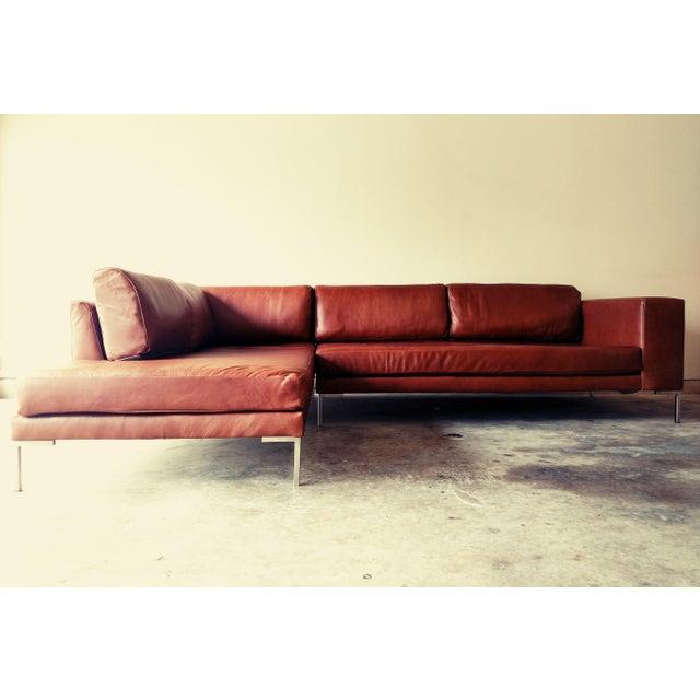 Gambrell Renard Leather Sofa Chaise Sectional Chairish