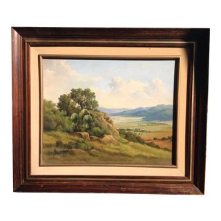 Vintage J Orozco Landscape Painting For Sale