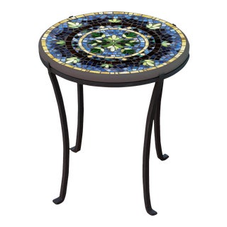 """Lake Como 18"""" Chaise Table with Black Base For Sale"""