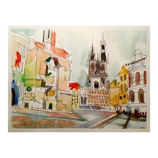 """Hungary"" Watercolor Painting"