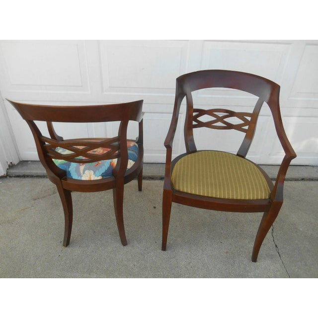 Vintage Baker Furniture Biedermeier Style Dining Chairs - A Pair - Image 4 of 7