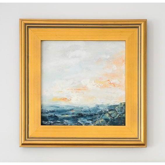 Encaustic Encaustic Seascape Painting For Sale - Image 7 of 7