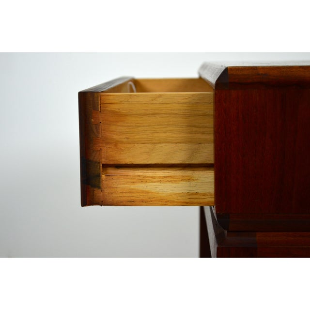 Brass 1960s Mid Century Modern Founders Furniture Co. Walnut Nightstand For Sale - Image 7 of 10