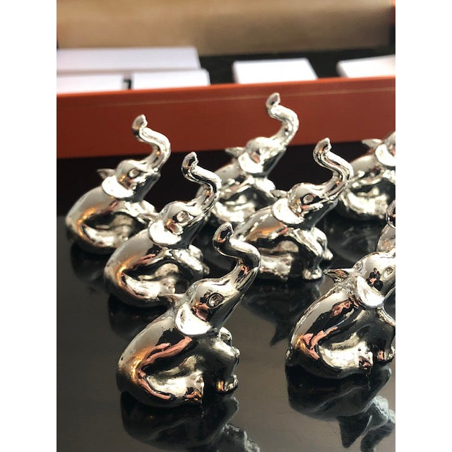 French Saint Hilaire Elephant Place Holders - Set of 12 For Sale - Image 3 of 7