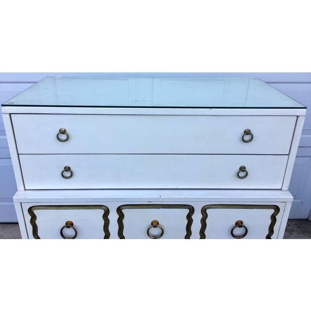 Dorothy Draper Espana Style Hollywood Regency Tall Chest of Drawers For Sale - Image 10 of 11