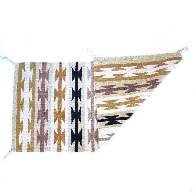 This authentic vintage Navajo style rug is not only gorgeous but collectible. It's super thick and the perfect accent to...