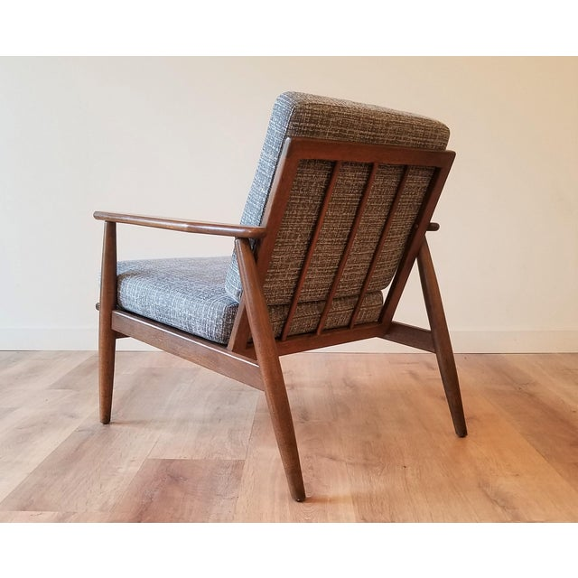 Baumritter Newly Upholstered Viko Baumritter Walnut Armchair For Sale - Image 4 of 12