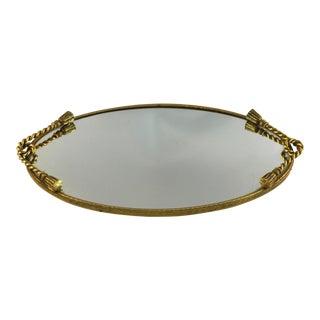 Hollywood Regency Rope Tassel Vanity Wall Mirror For Sale