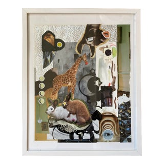 "Original Mixed Media Collage ""Springtime in New York"" by Lee Ten Hoeve For Sale"