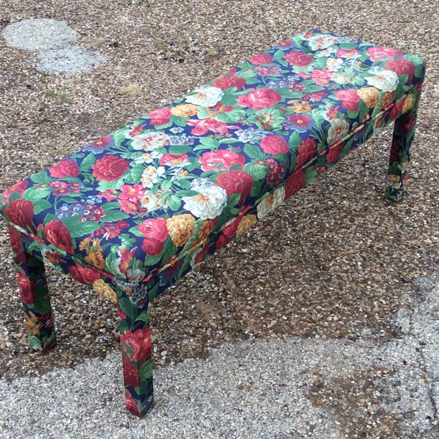 Late 20th Century Milo Baughman Parsons Style Long Bench For Sale In Dallas - Image 6 of 6