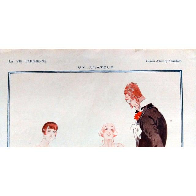 """Fournier 1925 La Vie Parisienne """" Un Amateur"""" Print - Image 2 of 5"""