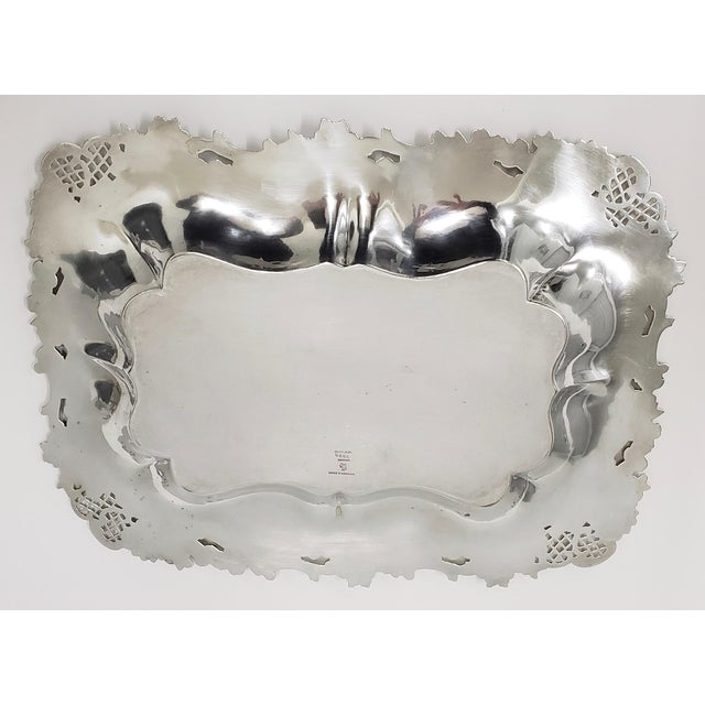 """Theodore B. Starr 14.5"""" Sterling Sandwich Tray C.1880s For Sale - Image 9 of 11"""