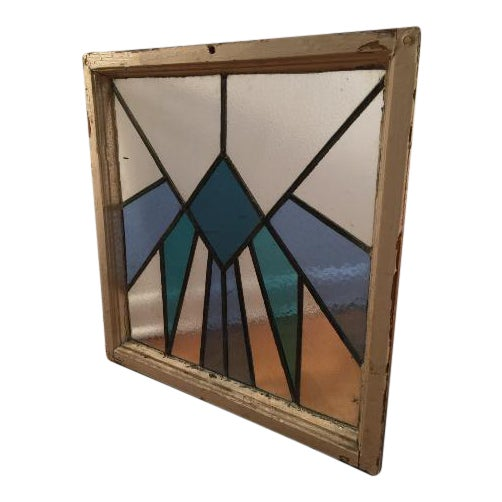 Vintage Art Deco Stained Glass Window Panel - Image 1 of 3