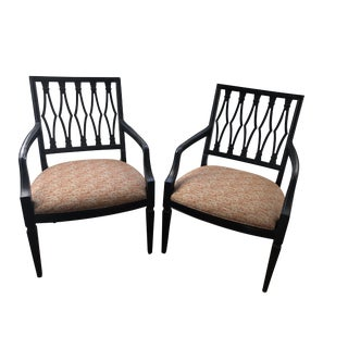 Wood Dining Armchairs - A Pair