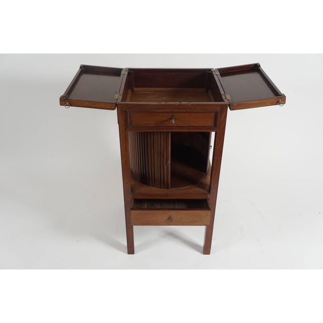 Late 18th Century Mahogany Tambour Stand, England, Circa 1790 For Sale - Image 5 of 11