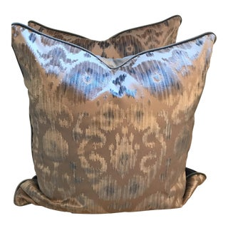 Scalamandre Tashkent Velvet Pillows - A Pair
