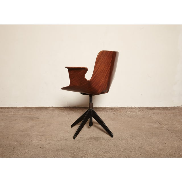 Mid 20th Century Vittorio Nobili for Fratelli Tagliabue Desk Chair, Italy, 1950s For Sale - Image 5 of 8