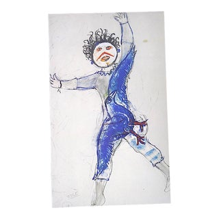 """Vintage Marc Chagall Lithograph-Folio Size-C.1969-""""Monster"""" For Sale"""
