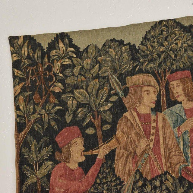 Large Italian Wall Tapestry by Paris Panneaux Gobelins For Sale - Image 9 of 12
