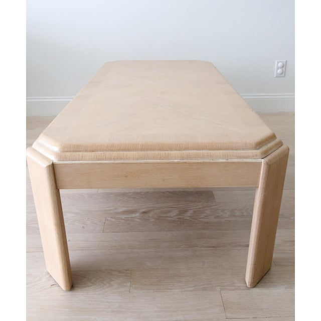 Late 20th Century 1980s Modern Tiered White-Washed Solid Wood Coffee Table For Sale - Image 5 of 10