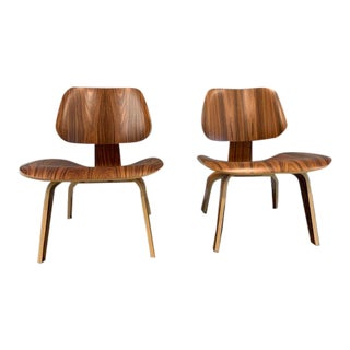 Eames Molded Plywood Lounge Chairs - a Pair For Sale