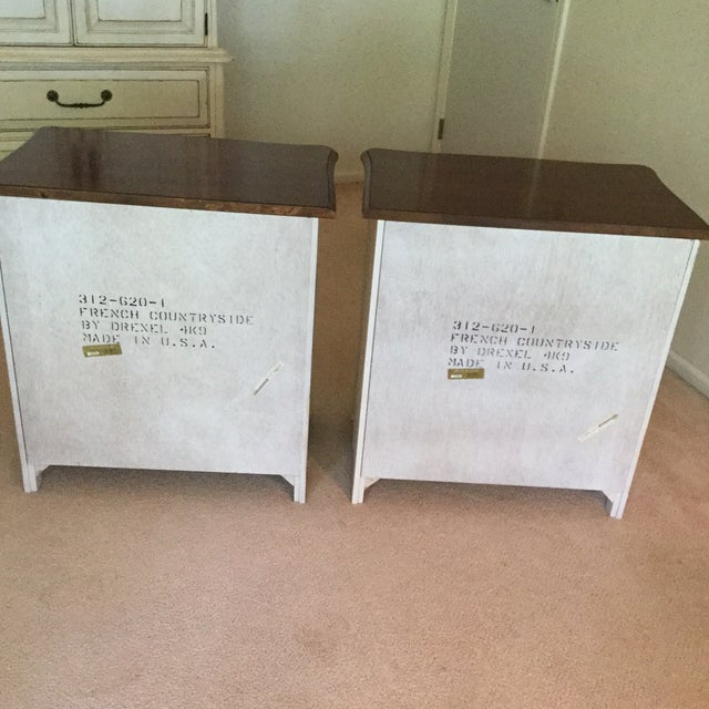 Drexel French Countryside Bedside Chests - a Pair For Sale - Image 5 of 9