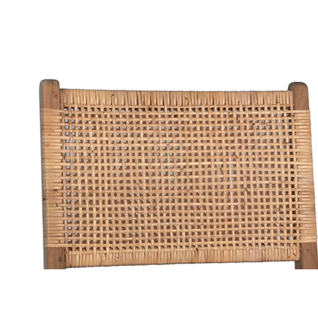 2020s Natural Teak & Wicker Dining Chair For Sale - Image 5 of 7