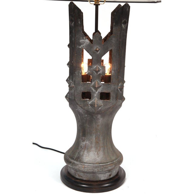 Pair of 1930s Solid Bronze Table Lamps For Sale - Image 4 of 5