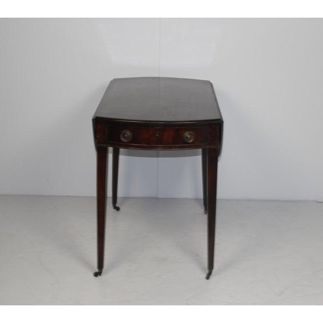 19th Century English Mahogany Pembroke Table - Image 2 of 5