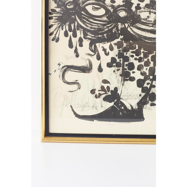 Black Pair of Bjorn Wiinblad Lithographs of Musical Players For Sale - Image 8 of 13