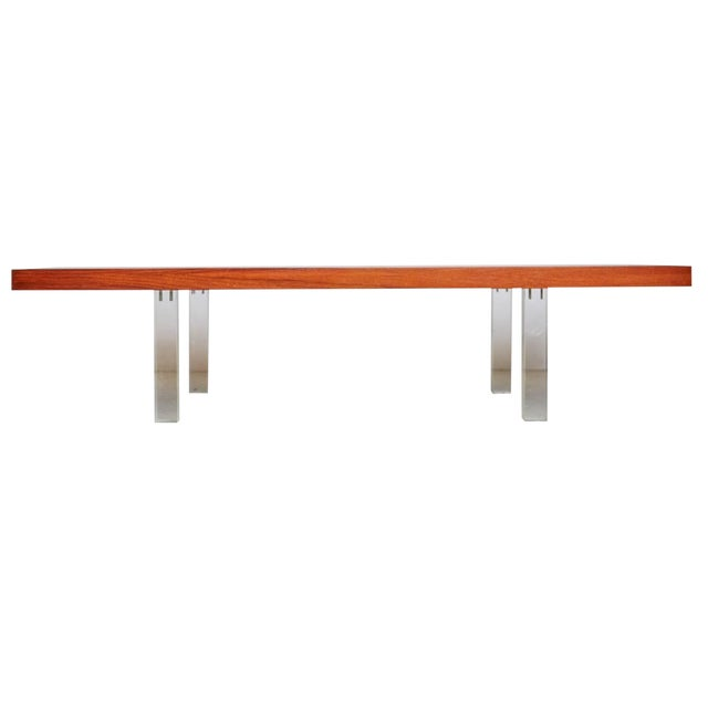 Milo Baughman for Directional Walnut and Lucite Coffee Table, Circa 1960 For Sale