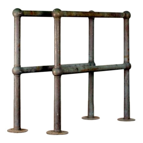 Mid Century Bronze Architectural Railings - a Pair For Sale