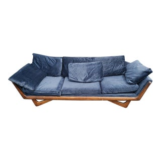 Mid Century Modern Adrian Pearsall Gondola Sofa for Upholstery For Sale