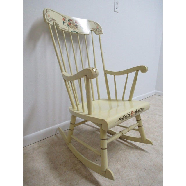 Remarkable Bent Brothers White Hitchcock Painted Rocking Chair Machost Co Dining Chair Design Ideas Machostcouk
