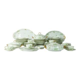 France Limoges Porcelain Dinner Service - 73 Pieces For Sale