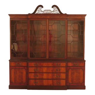 Schmieg & Kotzian 4 Door Mahogany Breakfront Bookcase For Sale