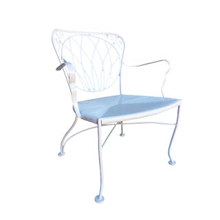 Woodard Art Nouveau Iron Patio/Outdoor Lounge Chair, 9 Available For Sale