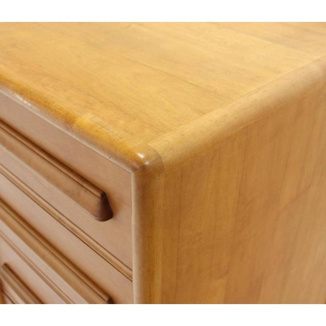 Mid-Century Modern Deep Drawers Heavily Custom Built File Cabinet For Sale - Image 3 of 9