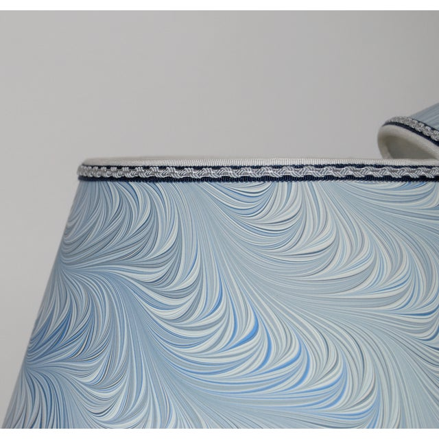 Italian Blue & White Marble Lampshades - A Pair - Image 3 of 4