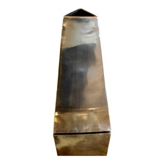 James Johnston Brass Modernist Vase For Sale
