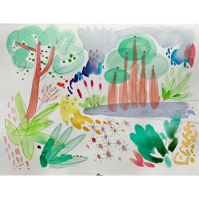 Original watercolor paintings on Arches Cold press 140 lb. four separate paintings designed to be hung as on larger...