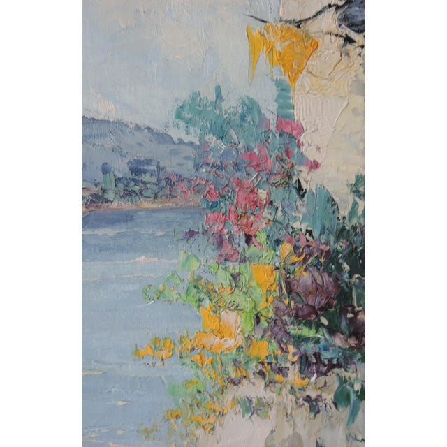 """1950s """"The Island of Capri"""", Italy by Giovanni Camprio, Framed Oil on Canvas Painting (Mediterranean) For Sale - Image 5 of 7"""