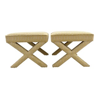 Jonathan Adler X-Bench Stools - a Pair For Sale