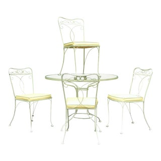 1960's Lime Green & Yellow Iron Patio Dining Set