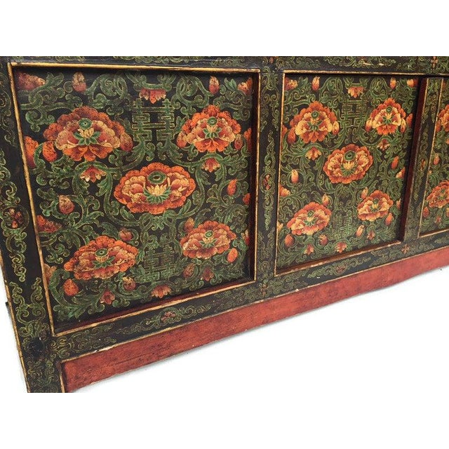 Chinoiserie Vintage Chinese Tibetan Cabinet For Sale - Image 3 of 13