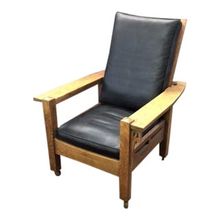 Arts and Crafts Mission Oak Morris Chair