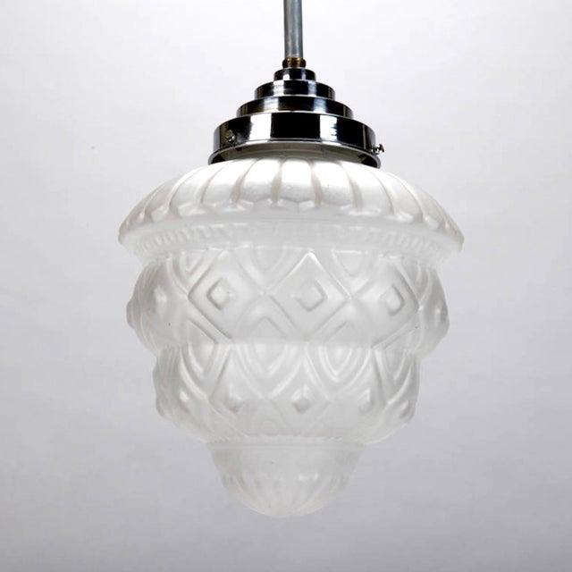 Schneider French Art Deco Pendant Chandelier - Image 3 of 6